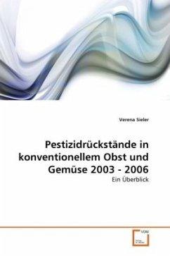 Pestizidrückstände in konventionellem Obst und Gemüse 2003 - 2006
