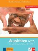 Aussichten. Teilband A2.2: Kurs- und Arbeits-/Materialienbuch mit 2 Audio-CDs und DVD