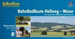 Bikeline BahnRadRoute Hellweg-Weser 1 : 50 000