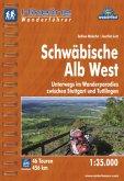 Hikeline Wanderführer Schwäbische Alb West 1 : 35 000