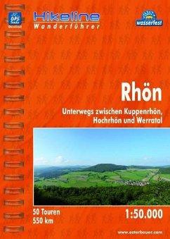 Hikeline Wanderführer Rhön 1 : 50 000