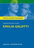 Emilia Galotti. Textanalyse und Interpretation