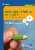 Individuell fördern Deutsch 8 Lesen Sach- und Gebrauchstexte
