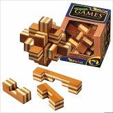 Philos 6054 - Sternpuzzle Bambus, 9 Puzzle Teile, Knobelspiel