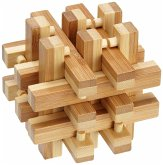 Philos 6059 - Lock Up Puzzle, Bambus Knobelspiel, 18-teilig