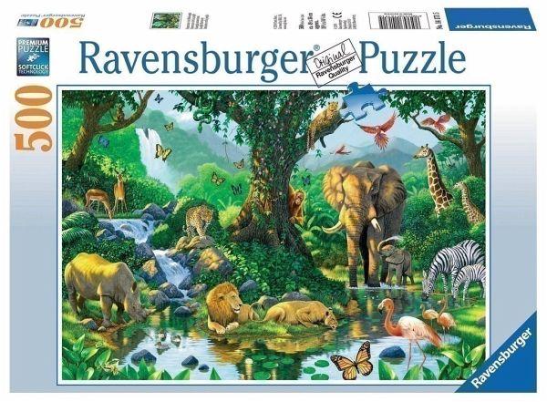 Ravensburger 14171 - Harmonie im Dschungel, 500 Teile Puzzle