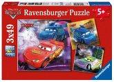 Ravensburger 09305 - Disney Cars: Auf der Rennstrecke, 3 x 49 Teile Puzzle