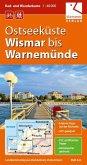 Ostseeküste Wismar bis Warnemünde 1 : 40 000 Rad- und Wanderkarte