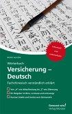 Wörterbuch Versicherung - Deutsch