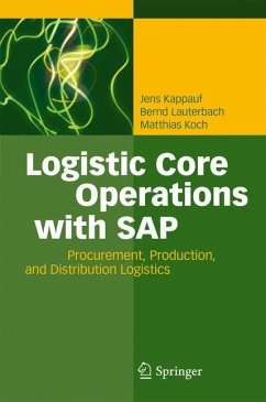 Logistic Core Operations with SAP - Kappauf, Jens; Lauterbach, Bernd; Koch, Matthias