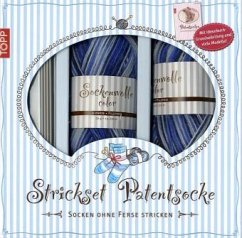 Patentsocke Jeans, Strickset