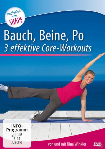 Bauch, Beine, Po - 3 intensive Core-Workouts - Winkler,Nina