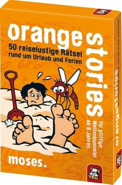 Moses MOS00622 - Black stories junior, orange stories , Kartenspiel, Familienspiel, Rätsel