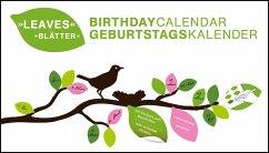 Birthday Calendar Leaves