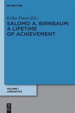 Linguistik / Linguistics - Birnbaum, Salomo A.
