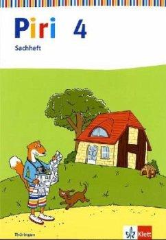Piri Sachheft. Arbeitsheft 4. Schuljahr. Ausgabe für Thüringen