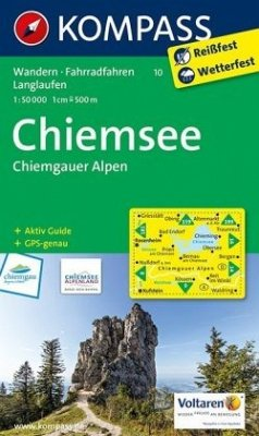 KOMPASS Wanderkarte Chiemsee - Chiemgauer Alpen