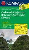 Kompass Karte Böhmisch-Sächsische Schweiz, m. Kompass Naturführer Wiesenblumen; Ceskosaské Svýcarsko