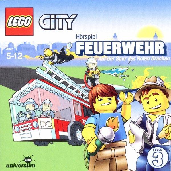 Feuerwehr. Auf der Spur des Roten Drachen LEGO City Bd.3 1 Audio-CD
