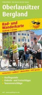 PublicPress Rad- und Wanderkarte Oberlausitzer Bergland