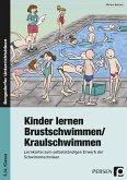 Kinder lernen Brustschwimmen/Kraulschwimmen