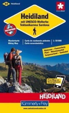 Kümmerly & Frey Karte Heidiland mit UNESCO-Welt...