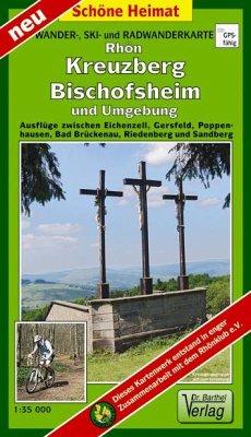 Doktor Barthel Karte Rhön, Kreuzberg, Bischofsheim und Umgebung