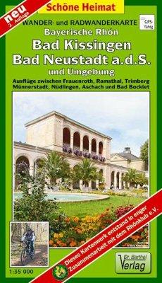 Doktor Barthel Karte Bayerische Rhön, Bad Kissingen, Bad Neustadt a.d.S. und Umgebung