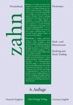 Wörterbuch für das Bank- und Börsenwesen - Zahn, Hans E.
