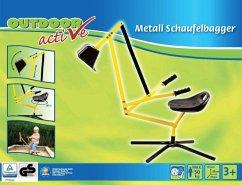 Outdoor active Metall Schaufelbagger, gelb und schwarz