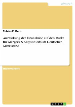 Auswirkung der Finanzkrise auf den Markt für Mergers & Acquisitions im Deutschen Mittelstand