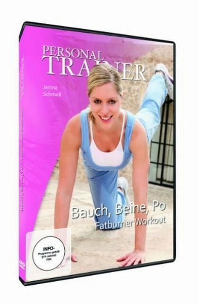 personal trainer bauch beine po fatburner workout film auf dvd. Black Bedroom Furniture Sets. Home Design Ideas