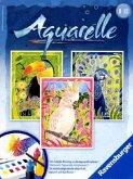 Ravensburger 29313 - Exotische Vögel, Aquarelle Midi, 18 x 24 cm