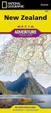 National Geographic Adventure Travel Map New Zealand
