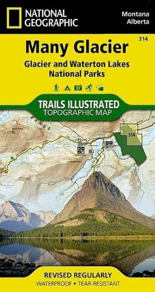 Many Glacier Glacier/Waterton Lakes National Parks, Montana, USA/Alberta, Canada Outdoor Recreation Map - National Geographic Maps - Trails Illust