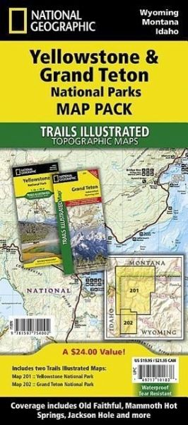 National Geographic Trails Illustrated Map Yellowstone & Grand Teton  National Parks Map Pack, 2 Pts.