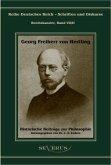 Georg Freiherr von Hertling: Historische Beiträge zur Philosophie
