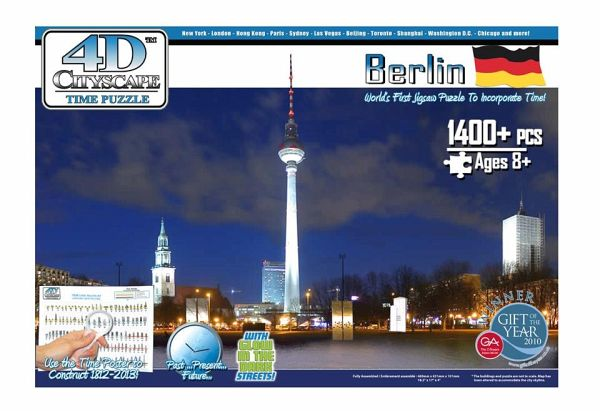 Jumbo Spiele 17109 - 4D Puzzle: Berlin, 1200 Teile Puzzle