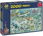 Jumbo 17080 - Jan van Haasteren: Unterwasserwelt, 2000 Teile Puzzle