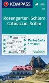 Kompass Karte Rosengarten, Schlern; Catinaccio, Sciliar