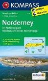 Kompass Karte Norderney im Nationalpark Niedersächasisches Wattenmeer