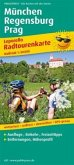 PublicPress Leporello Radtourenkarte München - Regensburg - Prag