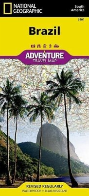 National Geographic Adventure Map Brazil - National Geographic Maps - Adventure