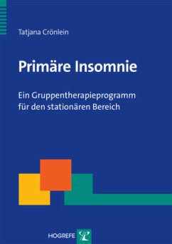 Primäre Insomnie, m. CD-ROM - Crönlein, Tatjana