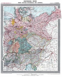 Historische Karte: Deutsches Reich - Deutschlan...