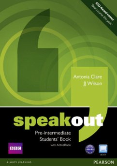 Speakout Pre-intermediate Students' Book (with DVD / Active Book) - Clare, Antonia; Wilson, J. J.