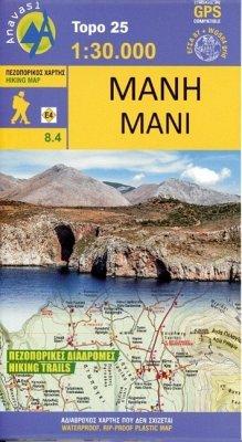 Topografische Bergwanderkarte 8.4. Mani 1 : 50 000