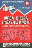 IGC Wanderkarte Ivrea, Biella, Bassa Valle d' Aosta