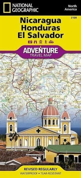 National Geographic Adventure Travel Map Nicaragua