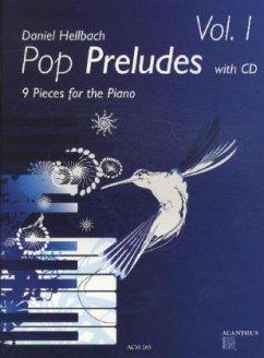 Pop Preludes, für Klavier, m. Audio-CD